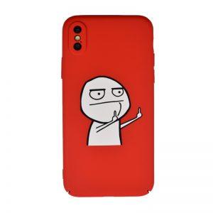 Plastový kryt pre Apple iPhone X/XS Red Fuck