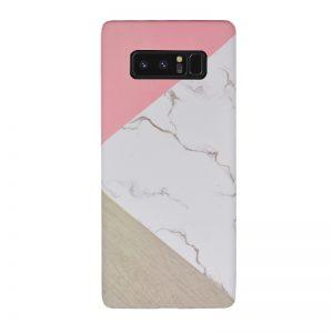 Plastový kryt pre Samsung Galaxy Note 8 White Marble Pink