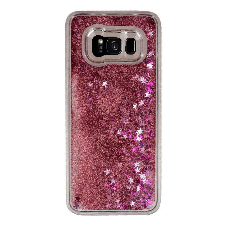 Presýpací plastový kryt pre Samsung Galaxy S8 Plus Pink Stars