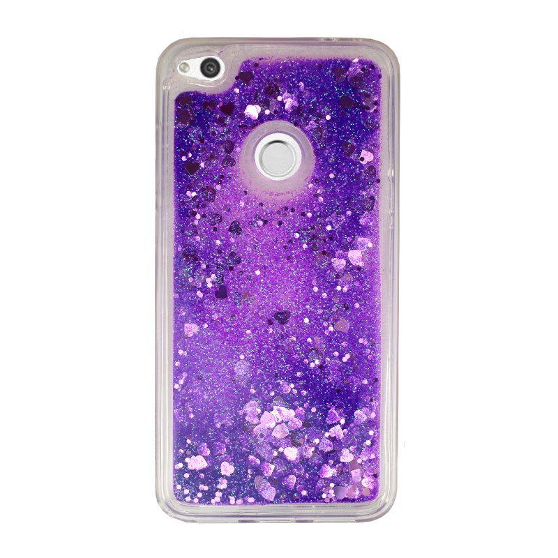 Presýpací silikónový kryt pre Huawei P9 Lite/P8 Lite 2017 Purple Heart