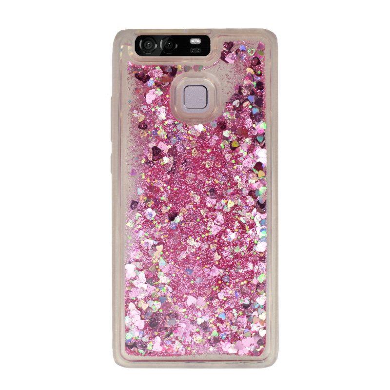 Presýpací silikónový kryt pre Huawei P9 Pink Heart