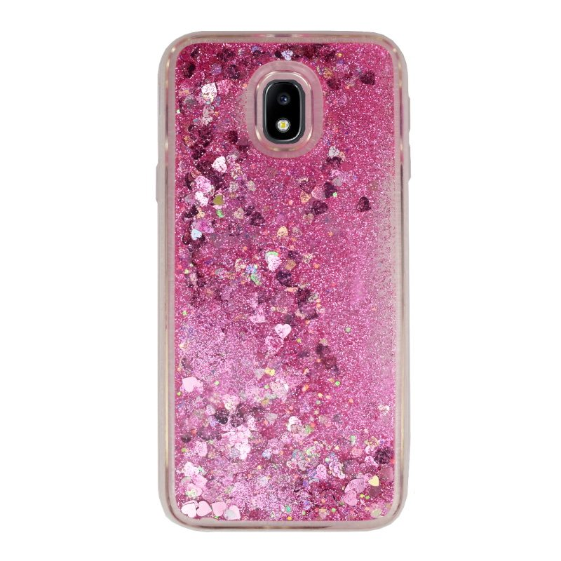 Presýpací silikónový kryt pre Samsung Galaxy J3 2017 Pink Heart