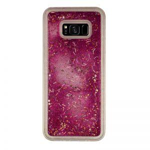 Presýpací silikónový kryt pre Samsung Galaxy S8 Plus Pink Stars