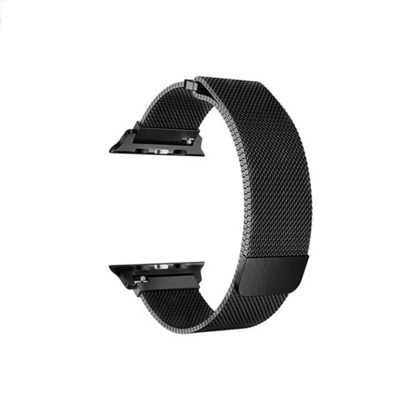 Remienok na Apple Watch 38mm/40mm kovový čierny