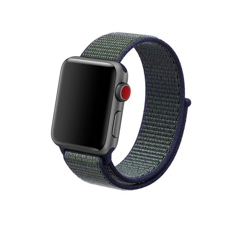 Látkový remienok Apple Watch 42mm Midnight Fog