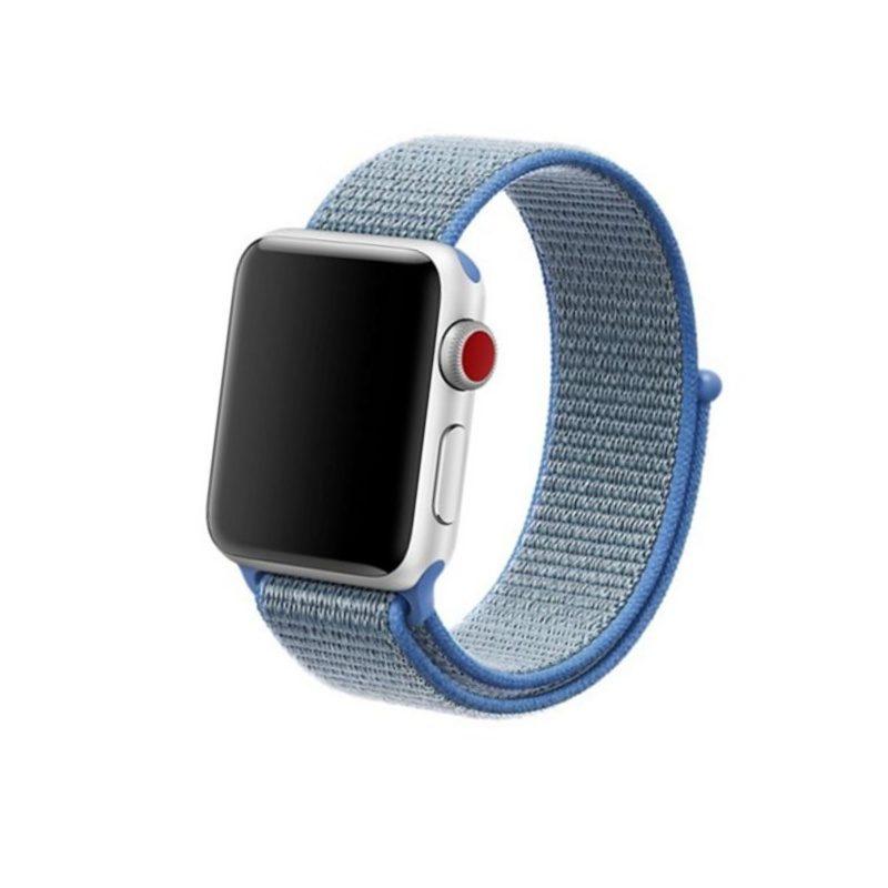 Remienok na Apple Watch 38mm/40mm látkový modrý
