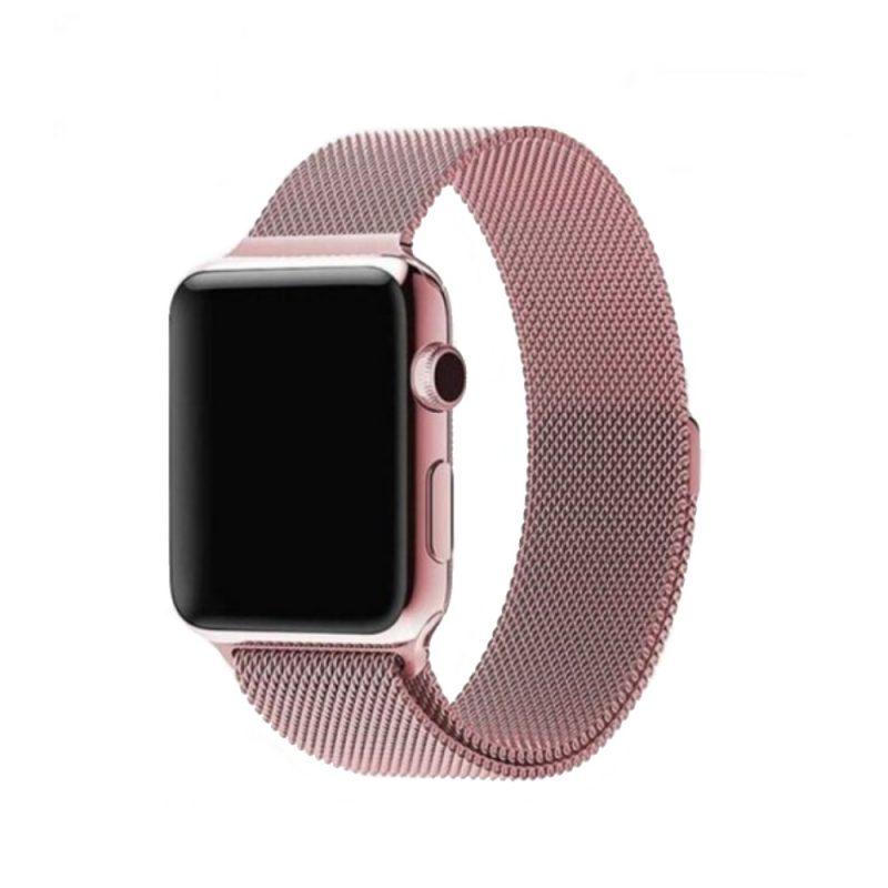 Remienok na Apple Watch 38mm/40mm oceľový Rose Gold