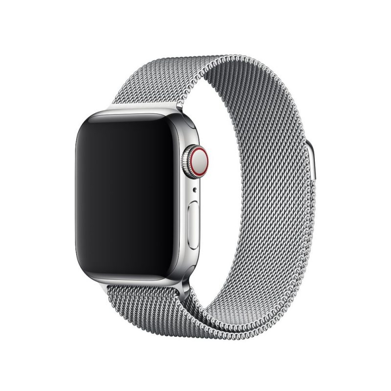 Remienok na Apple Watch 42mm/44mm oceľový Silver
