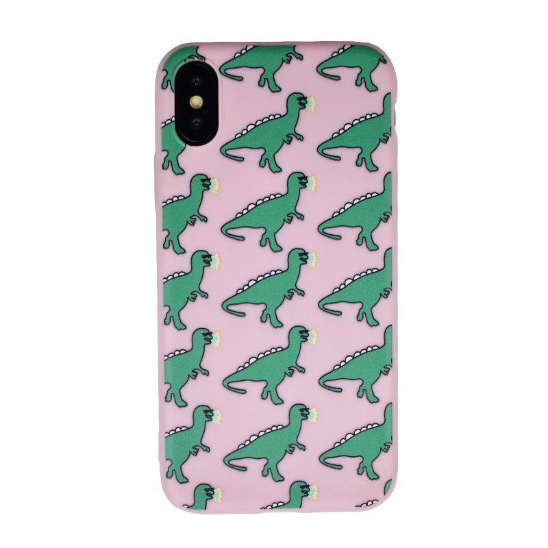 Silikónový kryt pre Apple iPhone X/XS Dinosaurs