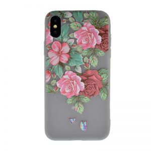 Silikónový kryt pre Apple iPhone X/XS Roses Butterfly