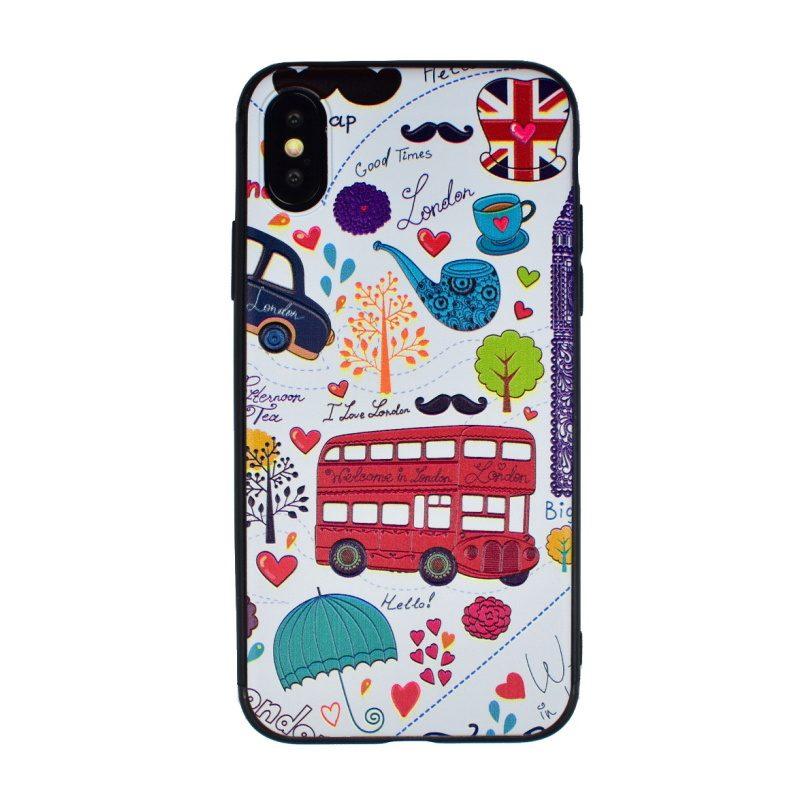 Silikónový kryt pre Apple iPhone X/XS I love London