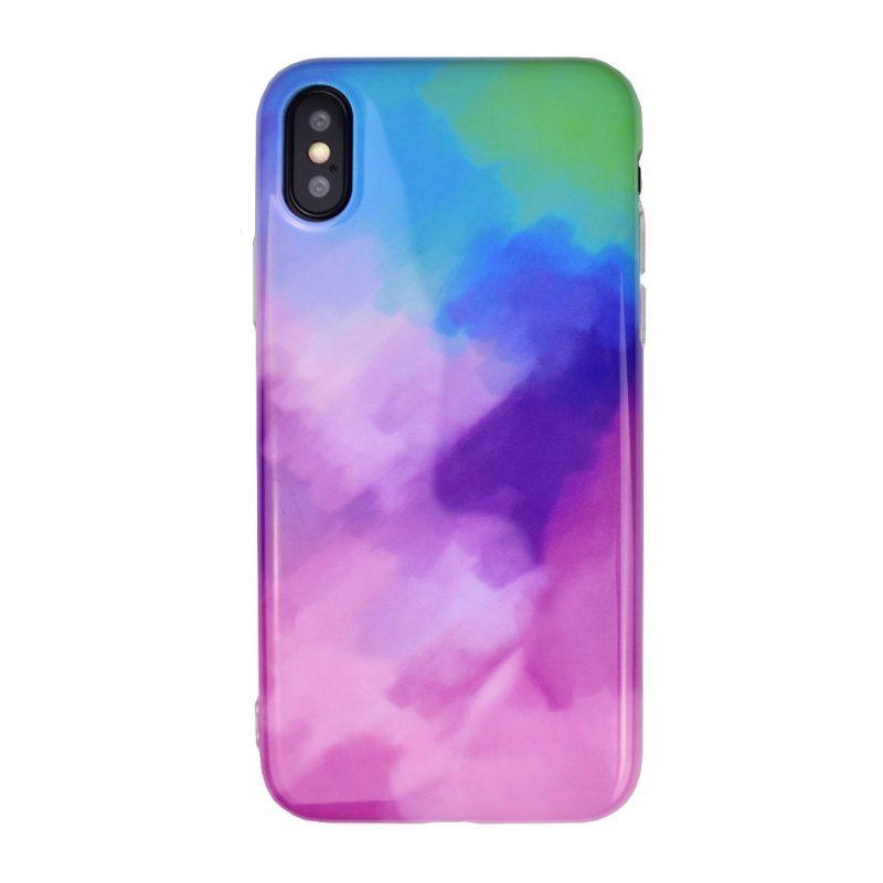 Silikónový kryt pre Apple iPhone X/XS Purple Art