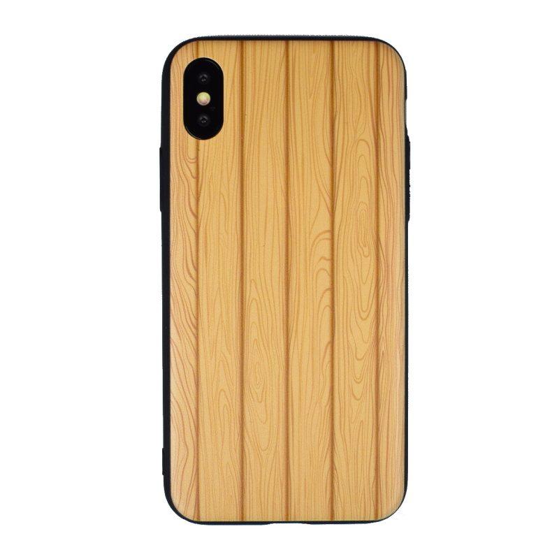 Silikónový kryt pre Apple iPhone X/XS Wood Line