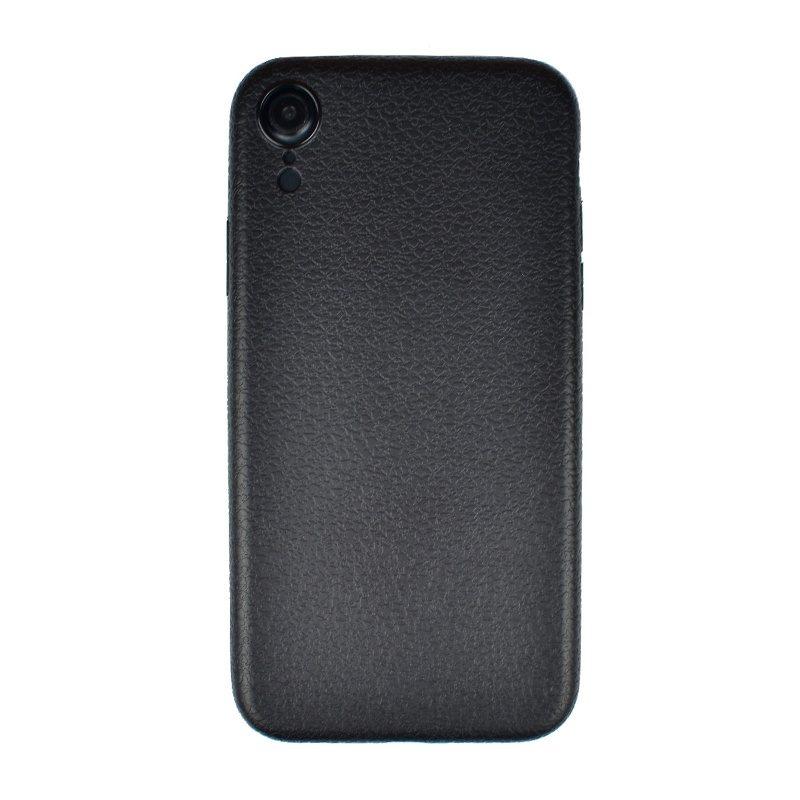 Silikónový kryt pre Apple iPhone XR imitácia čiernej kože