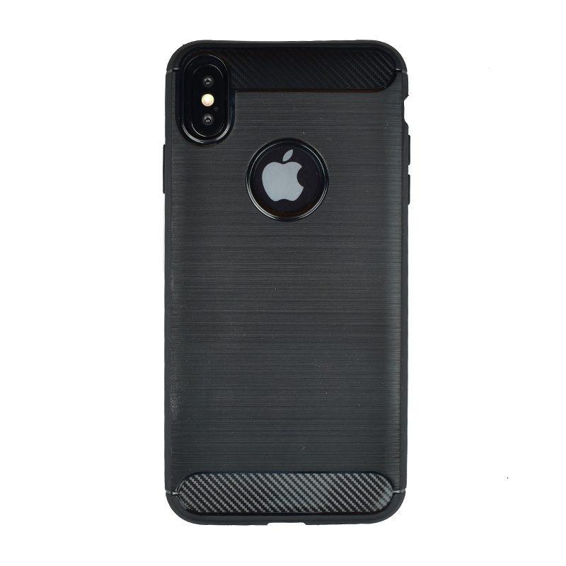 Silikónový kryt pre Apple iPhone XS Max Carbon - čierny