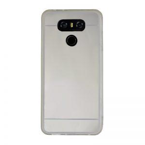 Silikónový kryt pre LG G6 Silver - zrkadlový