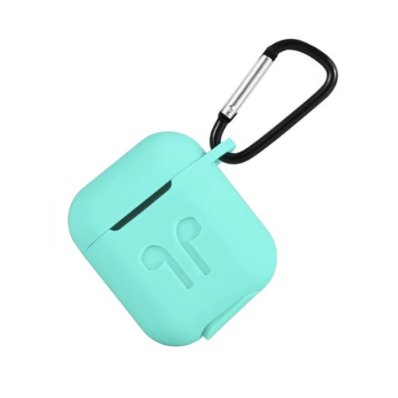 Silikónový obal pre Apple AirPods s držiakom – zelený