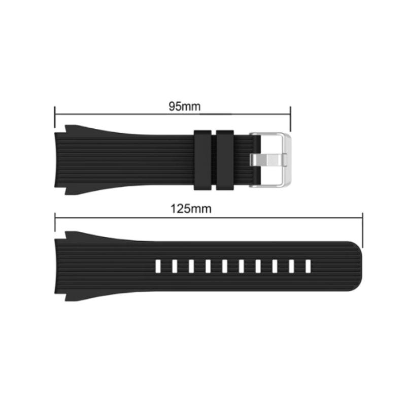 Samsung Gear S3 silikónový remienok Black 2