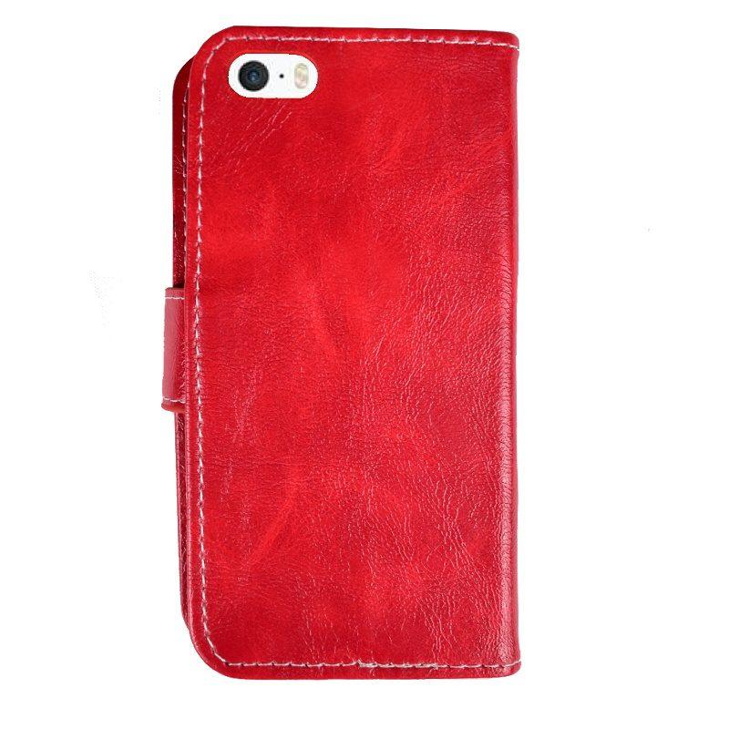 Ochranné flip puzdro pre Apple iPhone 5/5S/SE Red