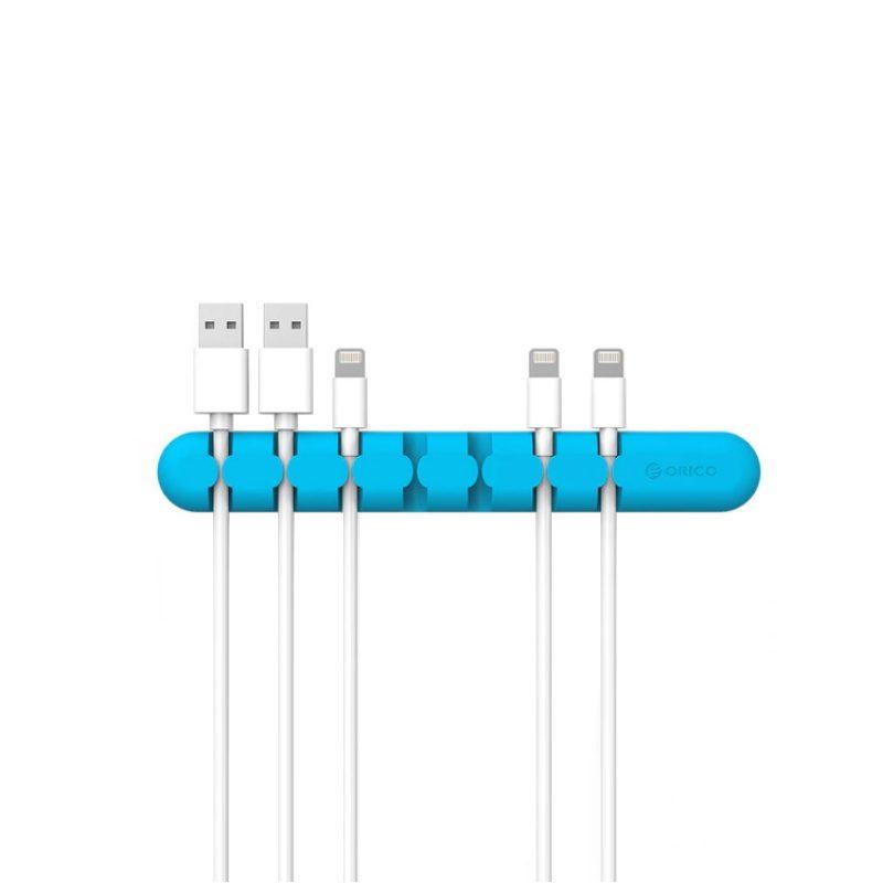 Orico silikónový organizér káblov - modrý