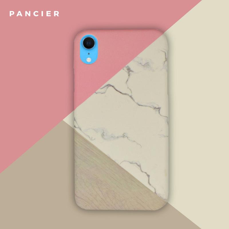 Plastový kryt na iPhone XR Pink Marble