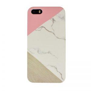 Plastový kryt pre Apple iPhone 5/5S/SE Pink Marble