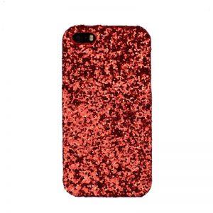 Plastový kryt pre Apple iPhone 5/5S/SE Red Sparkling