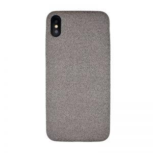 Plastový kryt pre Apple iPhone XS Max Grey potiahnutý látkou