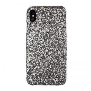 Plastový kryt pre Apple iPhone XS Max Silver Sparkling
