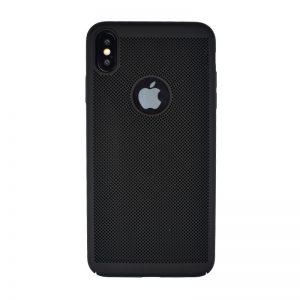 Plastový kryt pre Apple iPhone XS Max Black dierkovaný