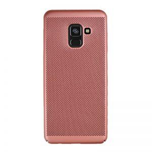 Plastový kryt pre Samsung Galaxy A8 2018 Rose Gold dierkovaný