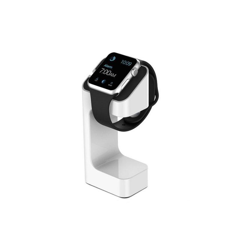 Plastový stojan na Apple Watch biely