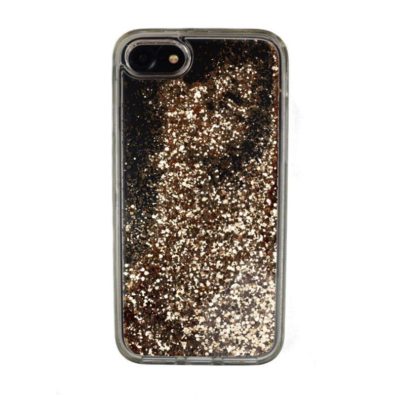 Presýpací plastový kryt pre Apple iPhone 7/8 Gold