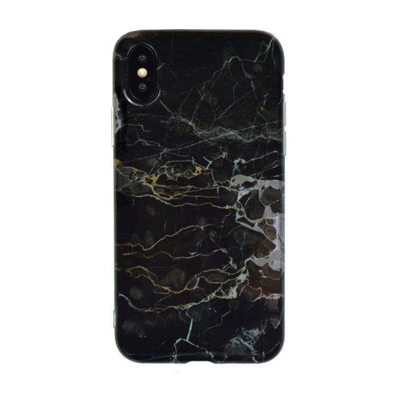 Silikónový kryt pre Apple iPhone X/XS Black Art