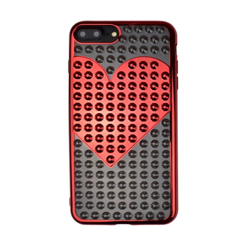 Silikónový 3D kryt pre Apple iPhone 7/8 Plus Red Heart