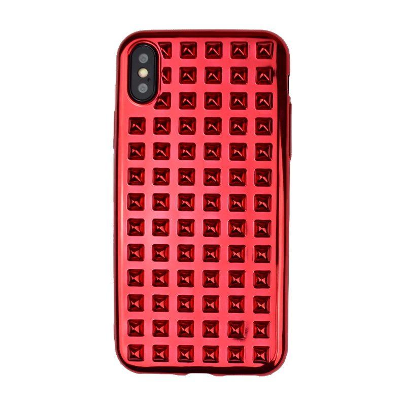 Silikónový 3D kryt pre Apple iPhone X/XS Red