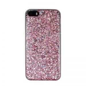 Silikónový kryt pre Apple iPhone 5/5S/SE Pink Sparkling