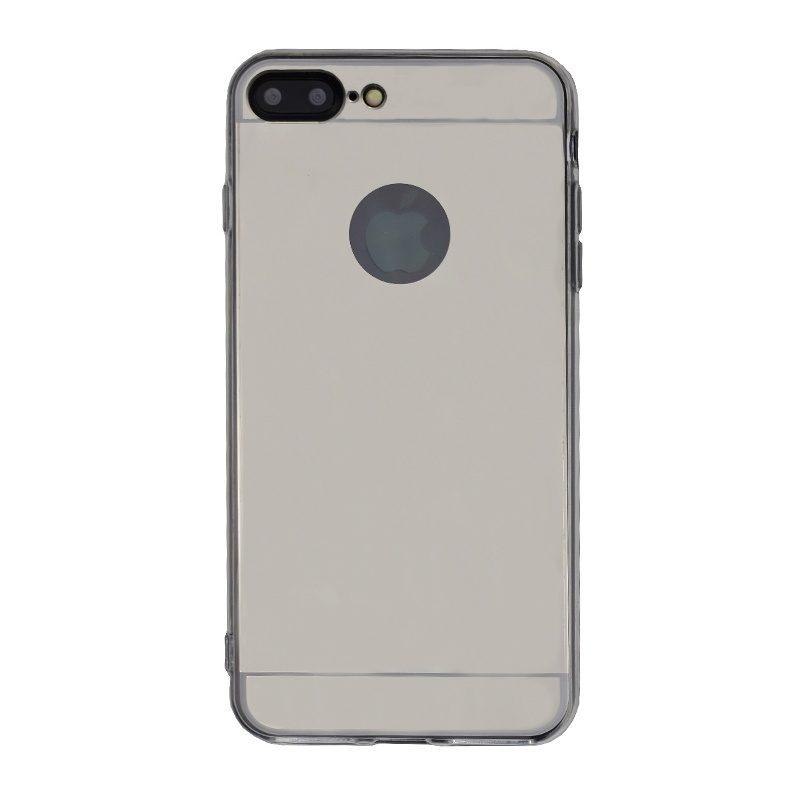 Silikónový kryt pre Apple iPhone 7/8 Plus Silver zrkadlový