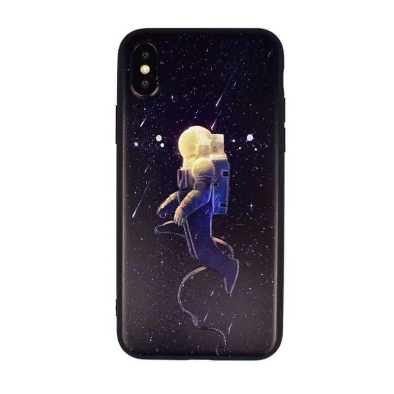 Silikónový kryt pre Apple iPhone X/XS Astronaut