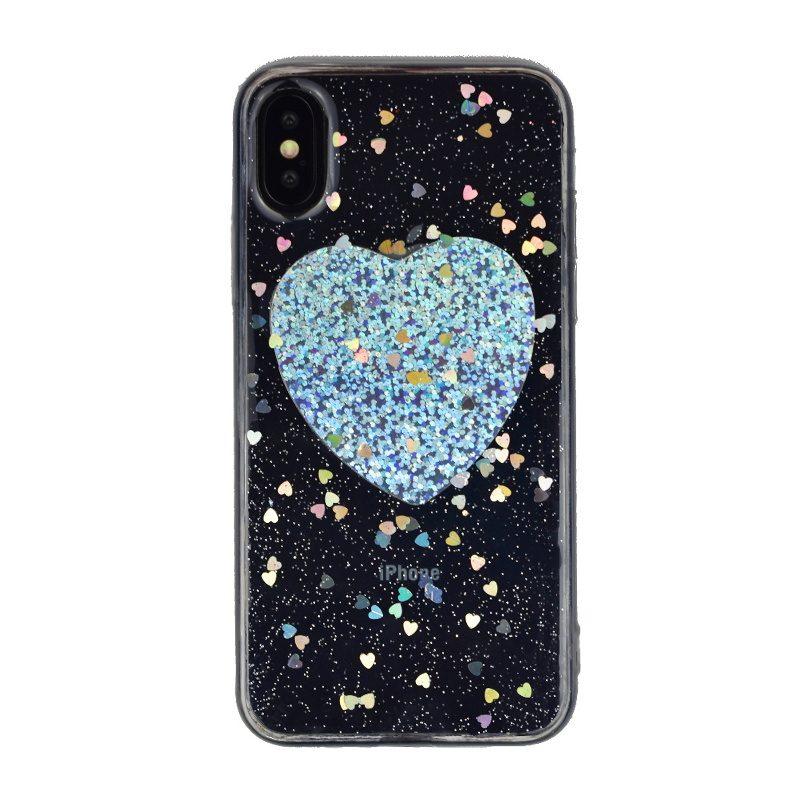 Silikónový kryt pre Apple iPhone X/XS Big Silver Heart