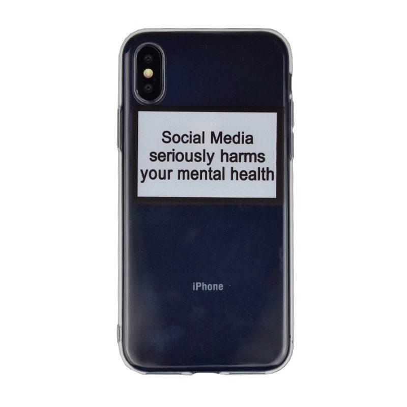 Silikónový kryt pre Apple iPhone X/XS Mental Health