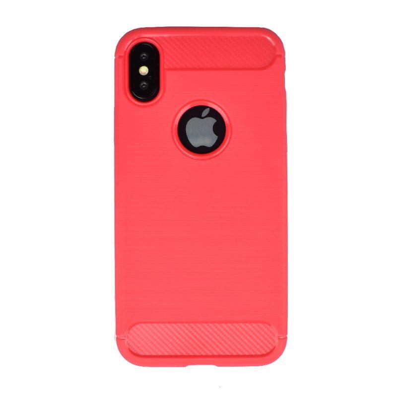 Silikónový kryt pre Apple iPhone X/XS Red Carbon