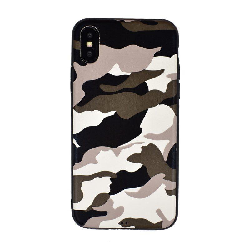 Silikónový kryt pre Apple iPhone X/XS White Camouflage