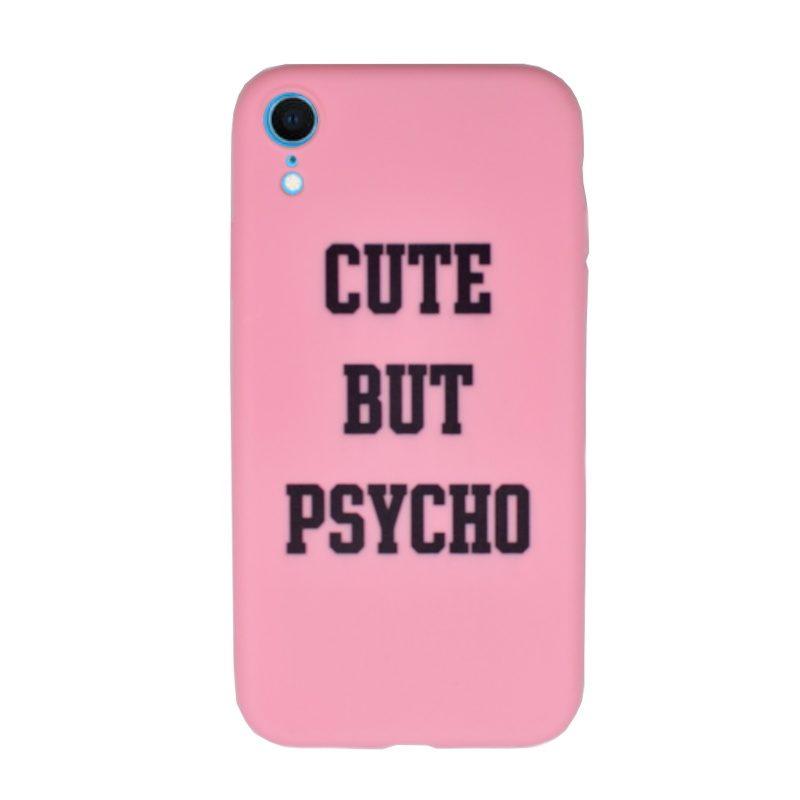 Silikónový kryt pre Apple iPhone XR Cute but psycho