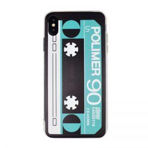 Silikónový kryt pre Apple iPhone XS Max Green Cassette
