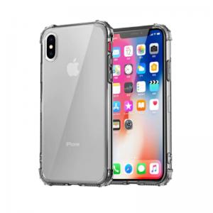 Silikónový kryt pre Apple iPhone XS Max Grey s vystúženými hranami