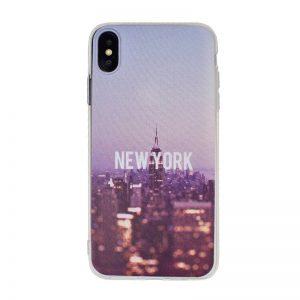 Silikónový kryt pre Apple iPhone XS Max New York