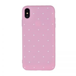 Silikónový kryt pre Apple iPhone XS Max Pink Dots