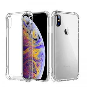 Silikónový kryt pre Apple iPhone XS Max priehľadný s vystúženými hranami