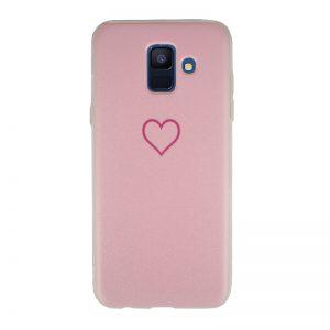 Silikónový kryt pre Samsung Galaxy A6 2018 Red Heart
